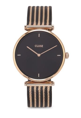 CLUSE black Cluse Triomphe Mesh Bicolour Rose Gold Black Black  9F4EEAC5483D86GS 1 bd2003526f6
