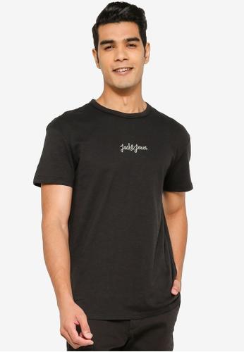 Jack & Jones black Short Sleeve Print T-Shirt 683BAAAFDFD9E6GS_1