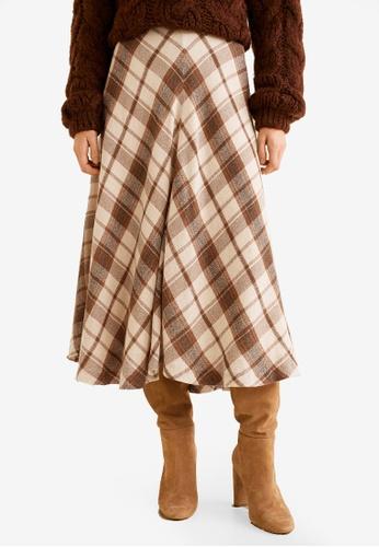 Mango beige Wool Boots Skirt 9325BAAAE097C2GS_1