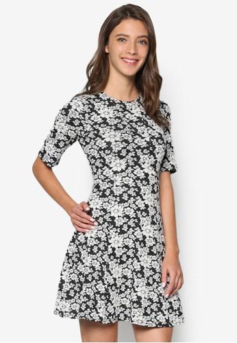 Floral Jacquard Skateesprit hong kong 分店r Dress, 服飾, 洋裝