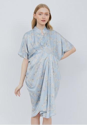 Chantilly blue 2-in-1 Maternity/Nursing Kaftan BLF 943DAAA6FC6158GS_1
