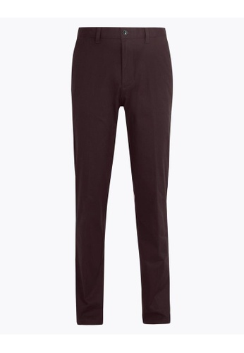 MARKS & SPENCER red M&S Regular Fit Stretch Chinos C1F93AADCFD6E3GS_1
