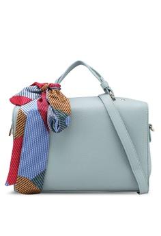 ZALORA blue Medium Boston Bag With Removable Scarf ED368AC66F632EGS_1