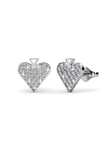 Her Jewellery silver Swarovski® Crystals - Queen of Hearts Earrings Set (18K White Gold Plated) Her Jewellery HE581AC0RAZ3MY_1
