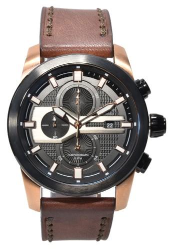 Alexandre Christie brown Alexandre Christie - Jam Tangan Pria - Rosegold - Brown Leather Strap - 6270MCLBRBA 67610AC4B2356FGS_1