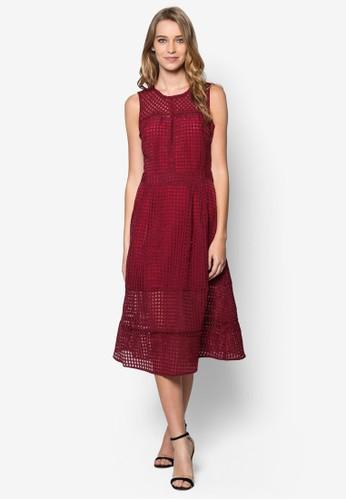 Jasmine 鏤空格紋傘狀洋裝, 服esprit 折扣飾, 洋裝