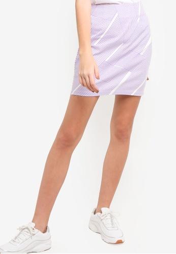 Something Borrowed purple High Waisted Mini Skirt A526CAACDC538BGS_1