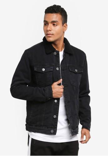 Factorie black The Denim Sherpa Jacket 2825EAA089CFA3GS_1