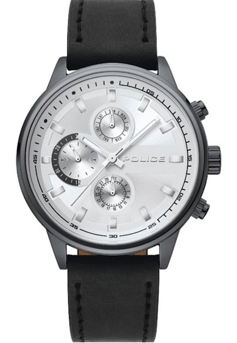 Police black and grey Police gent's super metal watch  - PL15464JYU/04-A BA26AAC3D04342GS_1