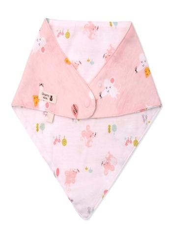 Organic mom pink Organic Cotton Dana Mouse Scarf 3096EKCD705C40GS_1
