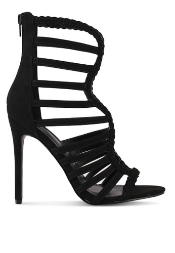 Something Borrowed black Caged Stiletto Heels CFDDASH9735E20GS_1