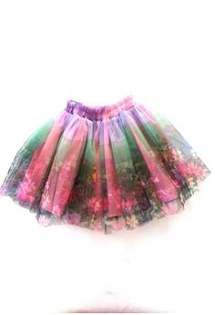 Flower Printed Tutu Skirt Free Size