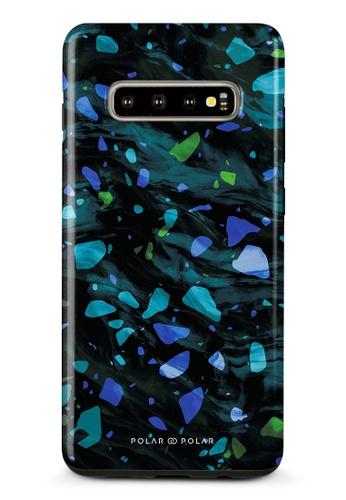 Polar Polar blue Ocean Terrazzo Gem Dual-Layer Tough Case Glossy For Samsung Galaxy S10 Plus A2EB8ACCED93AFGS_1