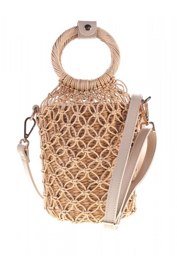 Style Cat brown and beige Toulouse Handmade Macrame Woven Sling AD67FAC224C8ABGS_1