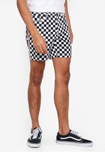 Penshoppe multi Checkered Shorts With Patch Pockets 99AE3AA0B9CCF4GS_1