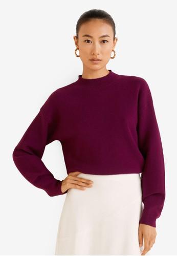 Mango purple High Collar Sweater E22EDAAF2BBADAGS_1