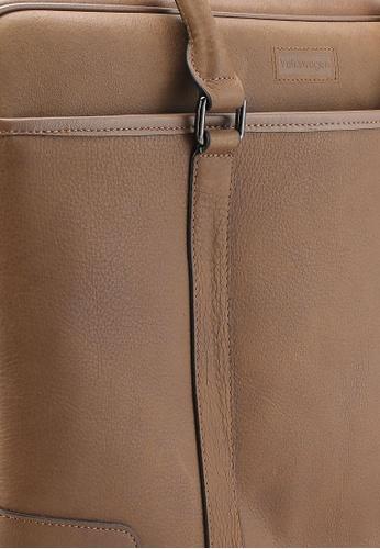 Volkswagen brown Volkswagen Genuine Leather Tote Bag VO089AC34MVLMY_1