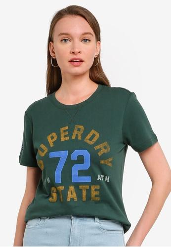 SUPERDRY green T&F Classic Tee FCCA8AA72F0B00GS_1