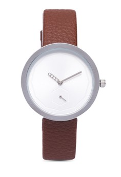 Dual Chrome Round Face Strap Watch