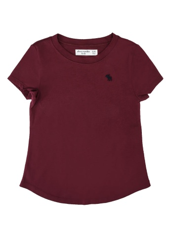 Abercrombie & Fitch purple Core Crew Moost Have Top 956E4KA3AFD458GS_1