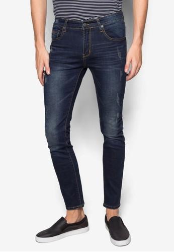 窄esprit hk管刷破牛仔褲, 服飾, 窄管牛仔褲