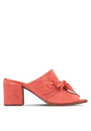 Carvela KG red Kotton Slider Block Heels CA459SH63UWYMY_1