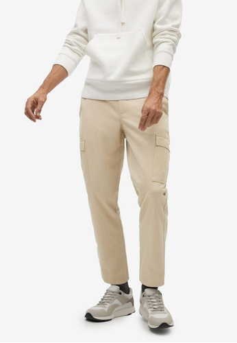 Mango Man beige Soft Touch Cargo Trousers B65F2AAC75B170GS_1