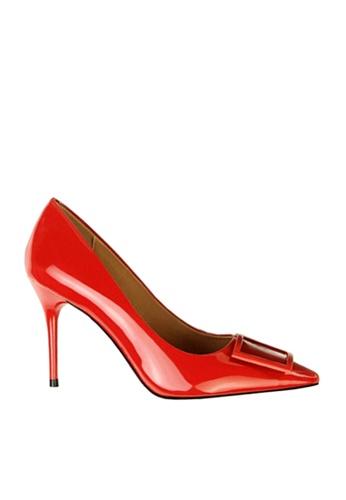 Twenty Eight Shoes 紅色 方形裝飾扣高跟鞋 VL17851 0B602SH560C65DGS_1