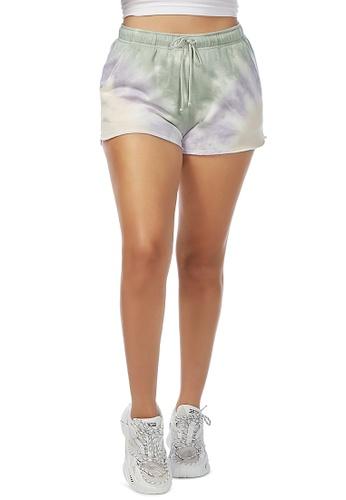 London Rag grey Lilac Tie-Dye Shorts 897C9AA2B4DFD8GS_1