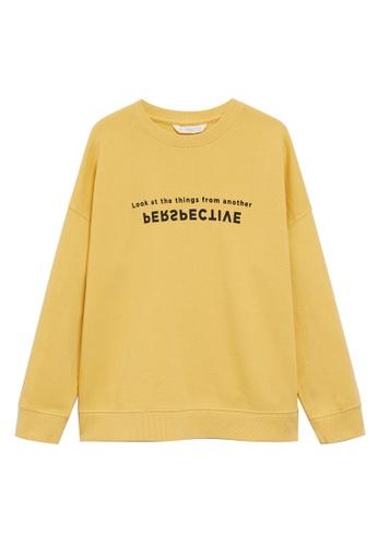 MANGO KIDS yellow Cotton-Blend Message Sweatshirt 98C20KA66EA2CFGS_1