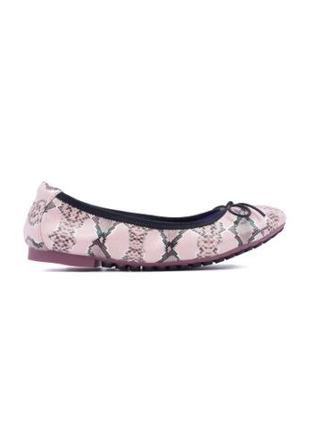 Flatss & Heelss by Rad Russel pink Snakeskin Prints Flats-Pink FL655SH0GQAASG_1