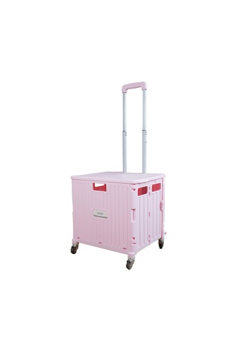 HOUZE pink HOUZE - Moveet Foldable Shopping Trolley - Pink BCD53HL5921778GS_1