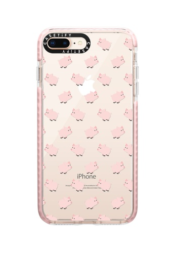 Casetify pink Piggies! Impact Protective Case for iPhone 8+/ iPhone 7+ 945FFAC7ABA59DGS_1