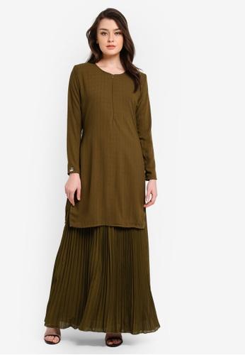 JubahSouq green Sumayya Dress JU399AA0RNS2MY_1