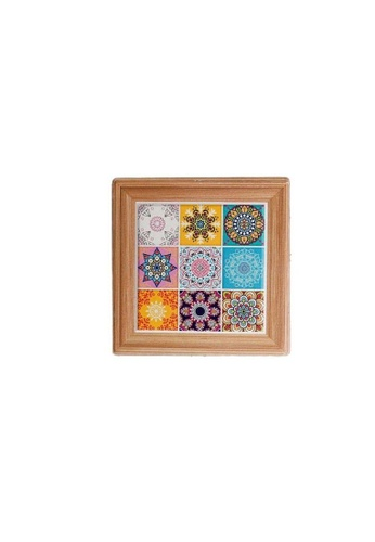 Table Matters multi Peranakan  Coaster (Cup)-G (Dim: 10.8 x 10.8 x 0.7cm) 95A07HLCA10584GS_1
