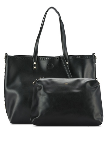 Nose black Studded Shoulder Bag Tote NO327AC0RC8FMY_1