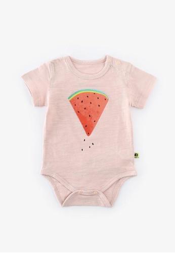 Little Kooma pink Baby Watermelon Bodysuit - 1006 Pink 563BCKABE48D20GS_1