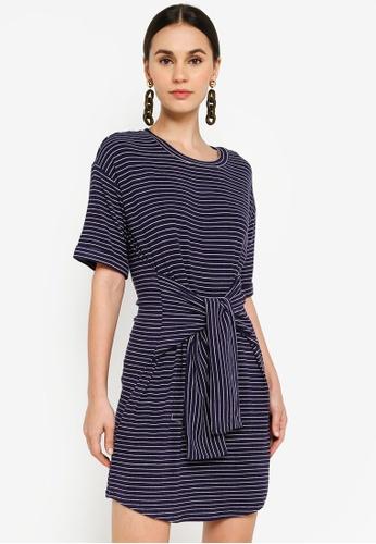Mink Pink navy Stripe Rib Dress 80502AA9E17CA8GS_1