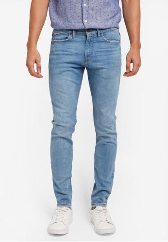 MANGO Man blue Skinny Light Wash Jude Jeans 5CFDAAAB11BFF2GS_1