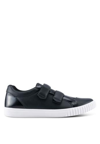 ZALORA black Mixed Material Velcro Sneakers 70755SHFD6CB2BGS_1