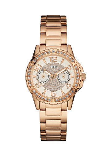 Jual Guess Watch Guess Jam Tangan Wanita Rosegold Stainless Steel W0705l3 Original Zalora Indonesia