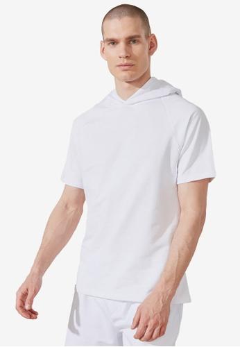 Trendyol white Short Sleeve Sweatshirt 661ADAA1702831GS_1