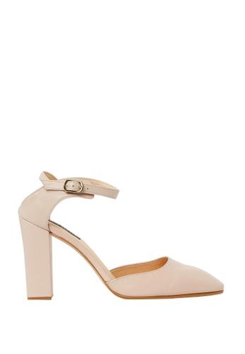 Nina Armando beige Lance Leather High Heel NI342SH0FV9DSG_1