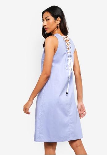 1d0591538e8b Shop Hopeshow Sleeveless Low Cut V-Neck Dress Online on ZALORA Philippines