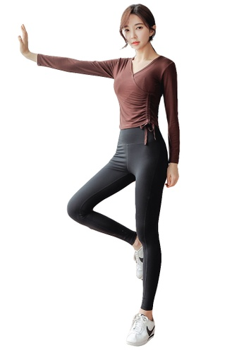 YG Fitness multi (2PCS) Quick-Drying Running Fitness Yoga Dance Suit (Tops+Bottoms) 09B5AUS89A18FCGS_1