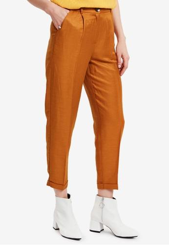 LC Waikiki yellow Elastic Waist Carrot Pants BDC37AA847F146GS_1