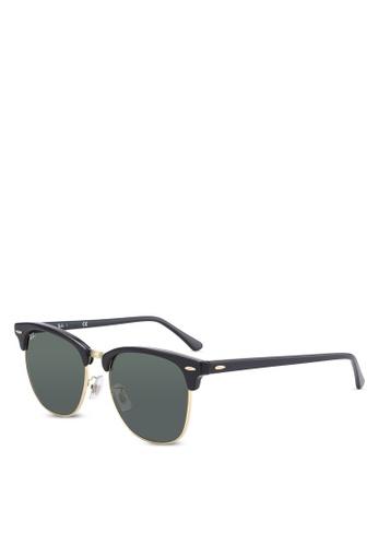 Ray-Ban black Clubmaster RB3016 Sunglasses RA896GL61LECMY_1