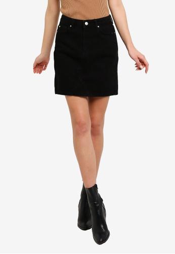 Trendyol black Basic Mini Denim Skirt DEFE5AAD9BC002GS_1