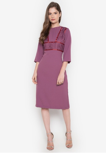 NEW ESSENTIALS purple Dennis Lustico Cocktail Dress NE239AA0JD1SPH_1