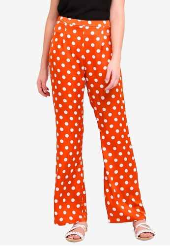 Glamorous orange Wide Legged Pants 9672DAA14D563AGS_1